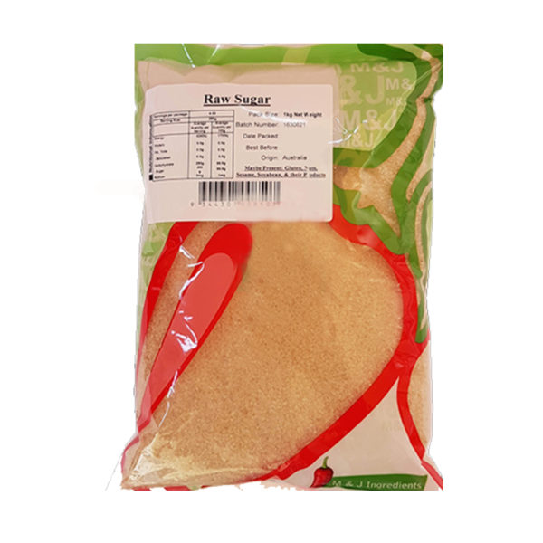 M&J Raw Sugar 1Kg