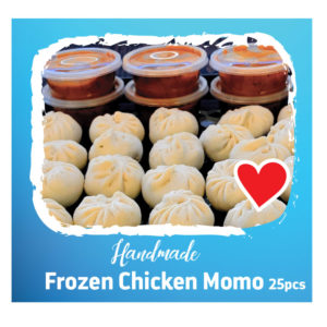 Frozen Chicken Momo 25pcs With Pickle